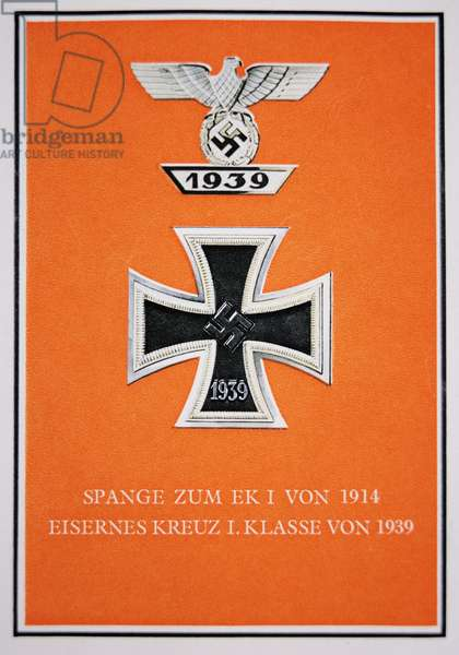 Postcard depicting a the German Iron Cross 1st Class, 1939 (colour litho)