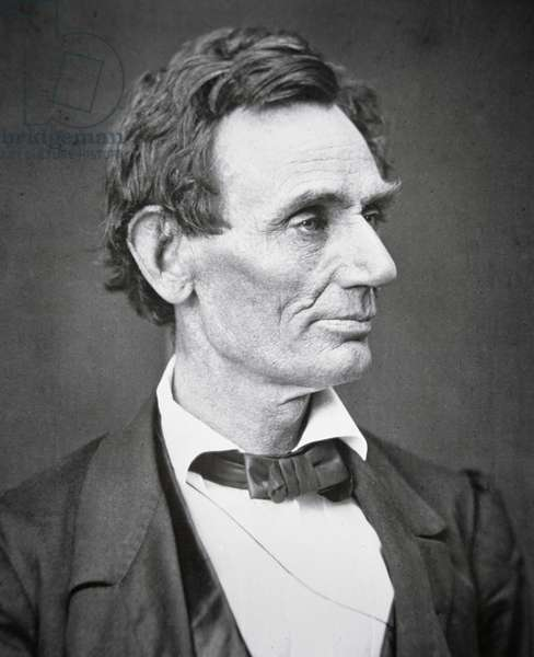 Abraham Lincoln (1809-65) 1860 (b/w photo)