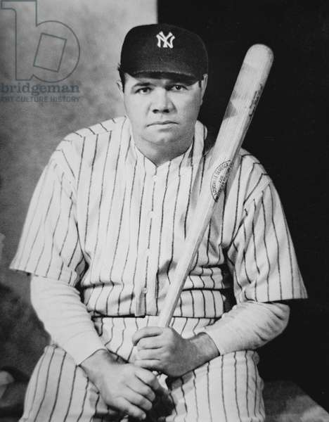 Babe Ruth, c.1927 (b/w photo)