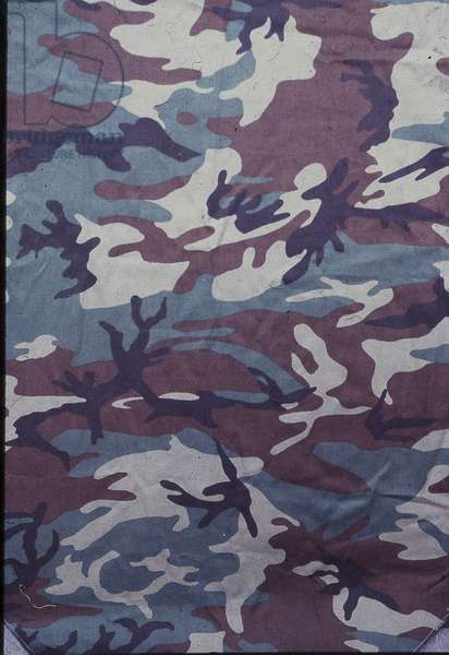 Early version of the US 'Woodland' camouflage pattern (textile)