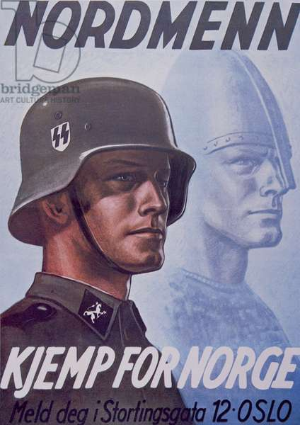 Waffen SS recruitment poster published in Norway (colour litho)