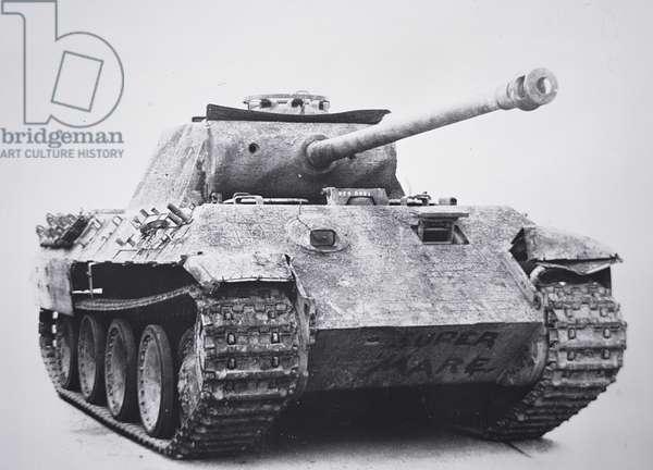 German Pzkw V Panzer Model A tank, c.1942 (b/w photo)