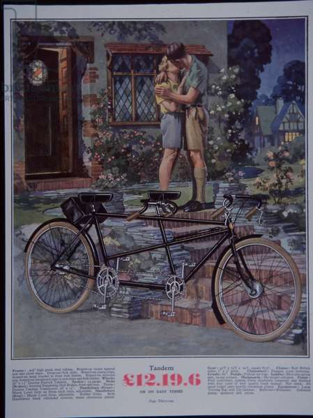 Bicycle advert, 1930s (colour litho)