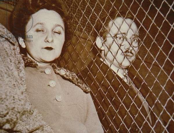 Ethel and Julius Rosenberg in jail, 1953 (b/w photo)