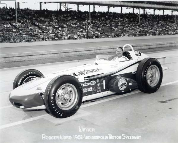 Rodger Ward, winner of the Indianapolis 500 Mile Race, 1962 (b/w photo)
