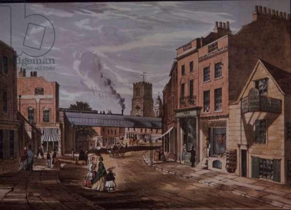 Hackney, north-east London, 1851 (colour litho)