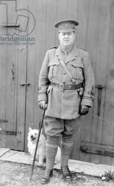 WWI Battalion Medical Officer, Derbyshire Volunteer Regiment, High Peak Battalion, 1914-18 (b/w photo)