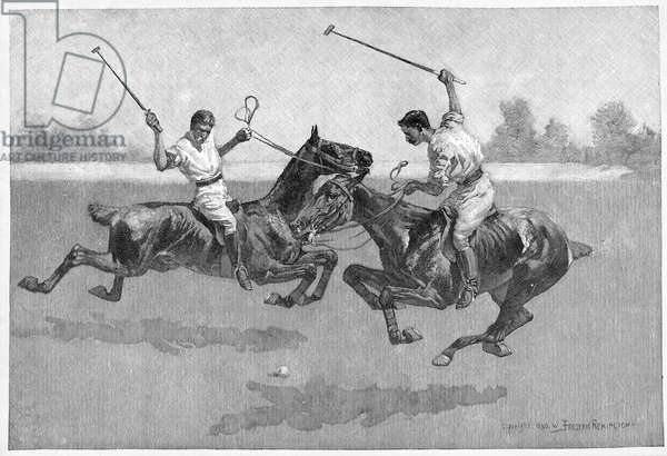 Polo Players, 1890 (engraving)