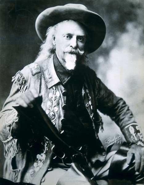 Buffalo Bill (1846-1917) (b/w photo)