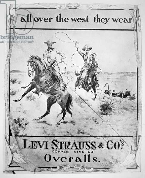 Advert for Levi Strauss & Co, c.1900 (litho)