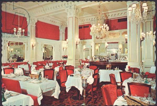 Postcard of the Rose Room in the Algonquin Hotel, New York City, 1979 (photo)