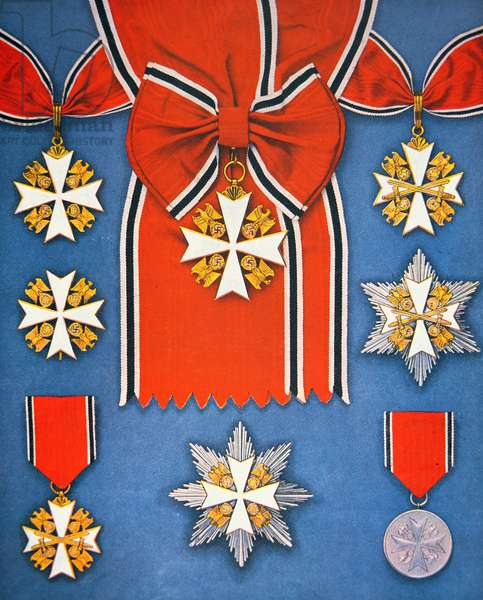 Nazi Germany Military Medals, published in Signal magazine, 1st October 1941 (colour litho)