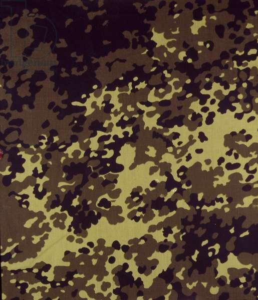 Danish camouflage pattern, 1970s (textile)