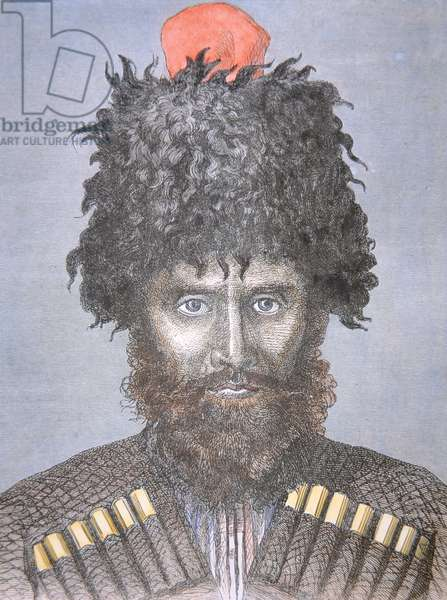 Cossack of the Don, 1880s (colour litho)