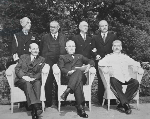The Potsdam Conference, 17th July - 2nd August 1945 (b/w photo)