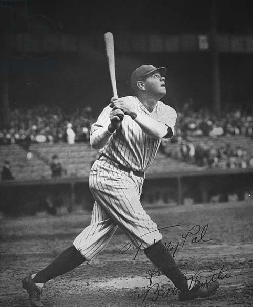 Babe Ruth (b/w photo)