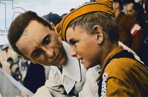"""""""A word with Dr Goebbels"""", Nazi Germany, 1934 (photo)"""