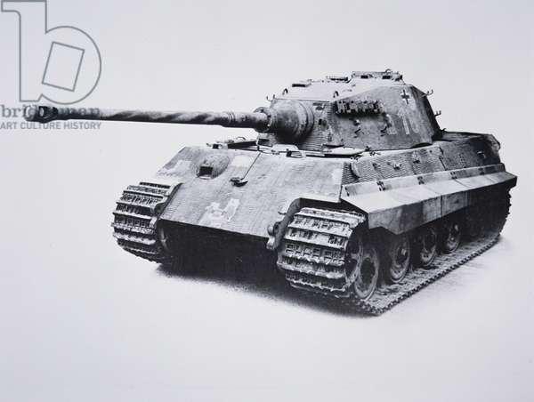German Pzkw VI Model B Royal Tiger, c.1944 (b/w photo)