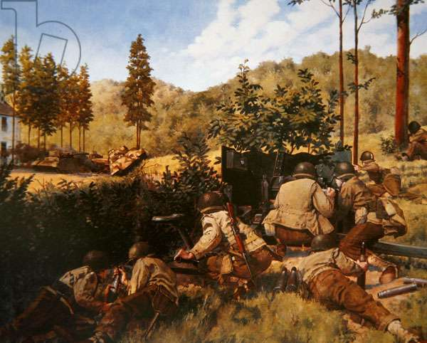 The Battle of Mortain, 1944 (oil on canvas)