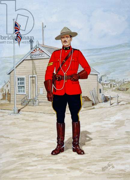 Corporal of the North-West Mounted Police in 1905, 1986 (colour litho)
