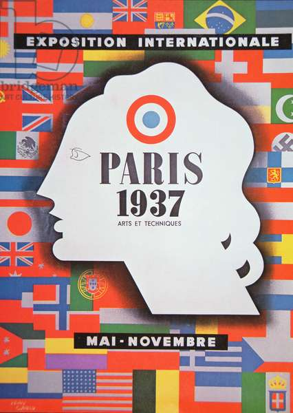 Poster advertising the 'Exposition Internationale' held at Paris, 1937 (colour litho)