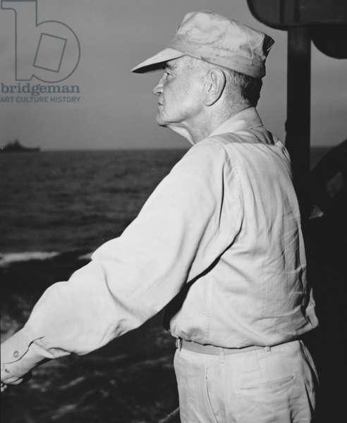 Admiral William F. 'Bull' Halsey (b/w photo)
