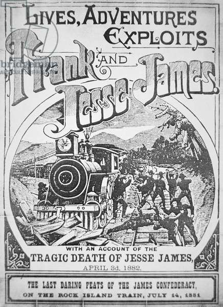 Front cover of 'Lives, Adventures, Exploits of Frank & Jesse James', 1882 (litho)