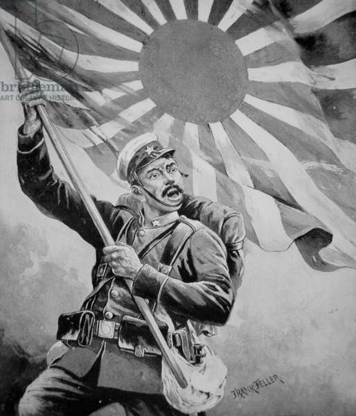 Soldier during the Russo-Japanese War (litho)