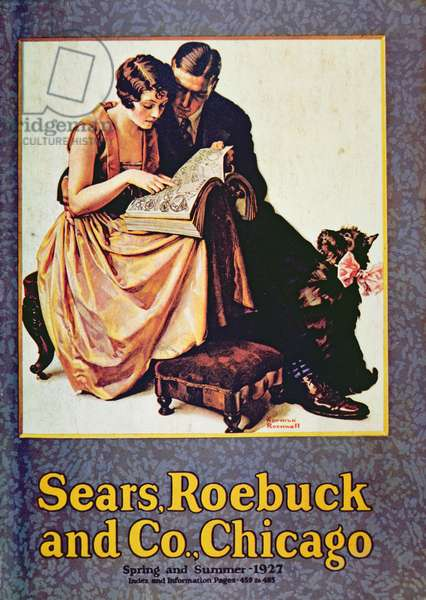 Sears, Roebuck & Co. goods catalogue, 1927 (colour litho)