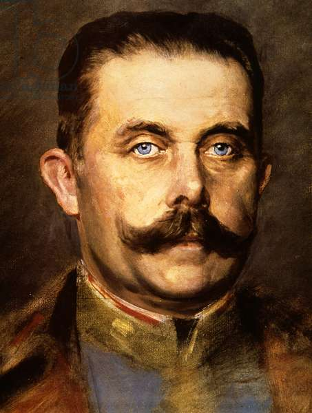 Archduke Franz Ferdinand of Austria (colour litho)
