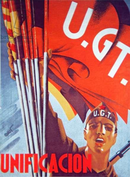 'Unification', Republican poster, 1937 (colour litho)