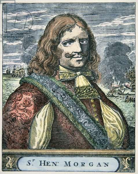 Sir Henry Morgan (c.1635-88) (coloured engraving)