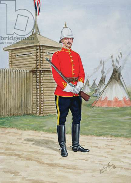 Constable of the North-West Mounted Police in 1880, 1986 (colour litho)