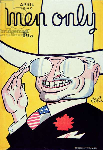 Cover for 'Men Only' magazine depicting Harry S. Truman (1884-1972) April 1948 (colour litho) illustrated by Edward S. Hynes (1897-1982)