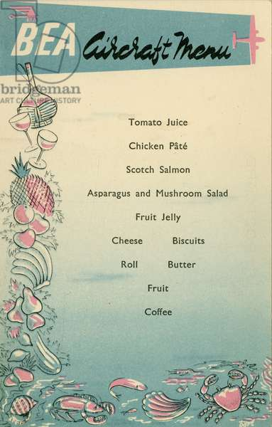 BEA inflight menu (colour litho)