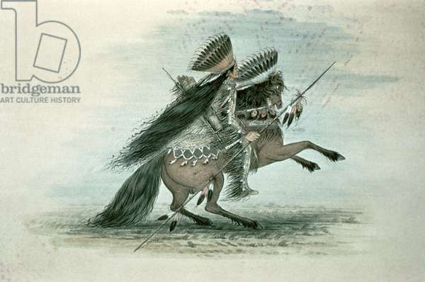 Warrior of the Crow Tribe (w/c on paper)