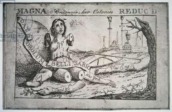 Magna Britannia: her colonies reduc'd (litho)