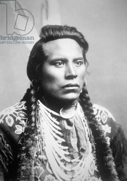 Curley, of the Crow tribe, one of Custer's scouts (b/w photo)