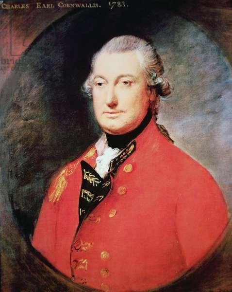 Charles Cornwallis, 1st Marquis Cornwallis (colour litho)