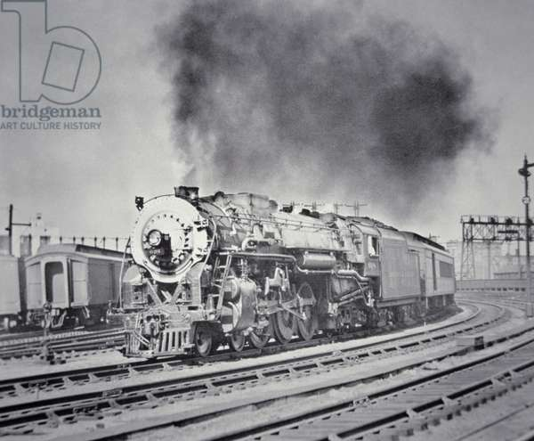 The '20th Century Limited' express train of the New York Central System, early 1930s (b/w photo)
