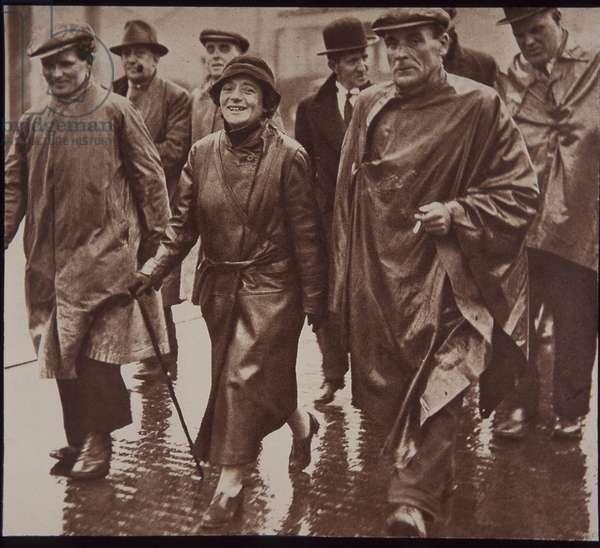 Jarrow Marchers protesting against unemployment, 1936 (b/w photo)