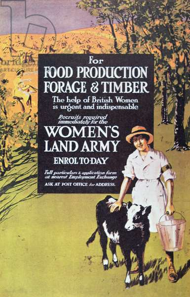 Poster for the Women's Land Army, c.1914-18 (colour litho)