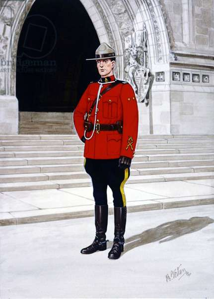 Constable of the Royal Canadian Mounted Police, Review Order, 1986 (colour litho)
