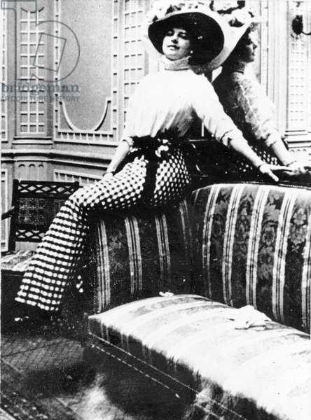 Mata Hari, photographed in Vienna, December 1907 (b/w photo)