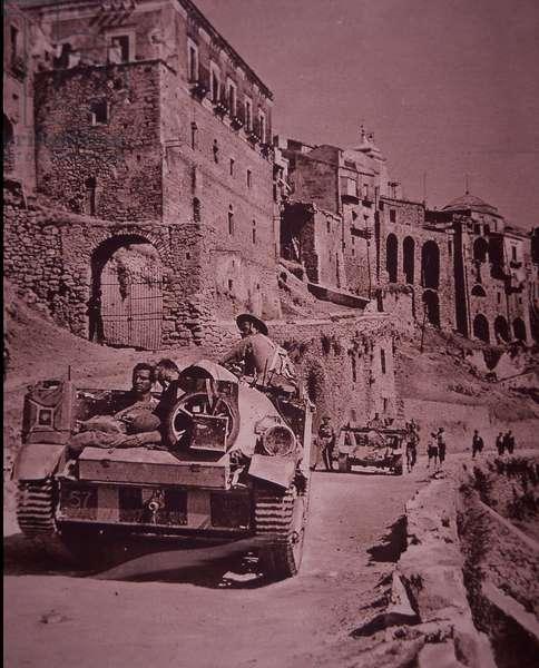 Allied invasion of Sicily, August 1943 (b/w photo)