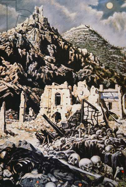 The Abbey of Monte Cassino, 1944 (w/c on paper)