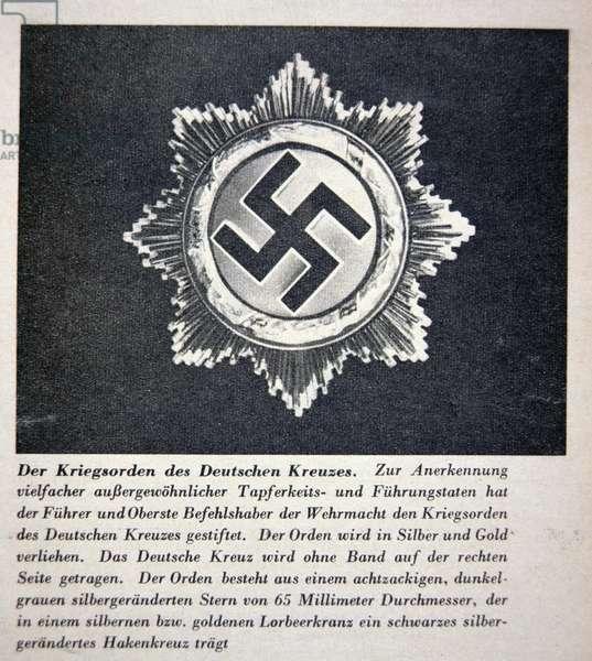 War Order of the German Cross, illustration from the journal Luftwelt, 1st November 1941 (litho)