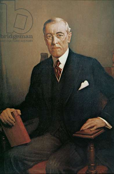 Woodrow Wilson (1856-1924) (colour litho)