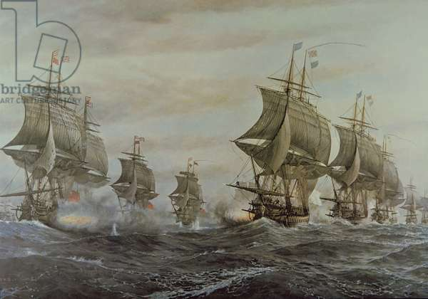 Battle of Virginia Capes, 5th September 1781, 1963 (oil on canvas)