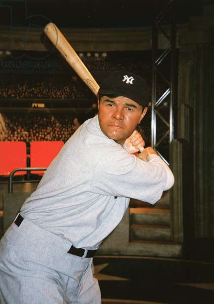 Babe Ruth wax figure at Madame Tussaud's exhibition in the Venetian Hotel Casino Resort in Las Vegas in 2000 (photo)